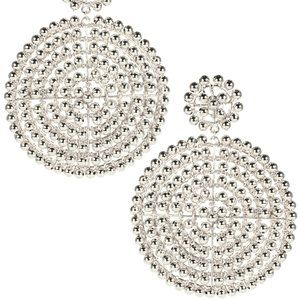 Lisi Lerch Silver Disk Earrings